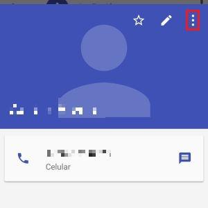 4-Após abrir as informações do contato, selecione os três pontinhos verticais, que ficam no lado superior direito. |Crédito: Reprodução