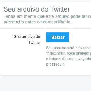6 - Você será direcionado novamente para o Twitter. Confirme o download no botão baixar.