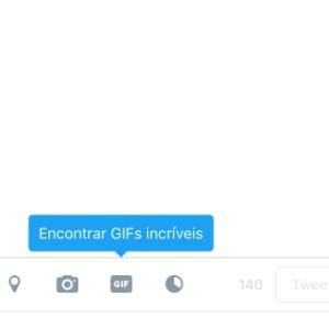 1 - Clique no botão GIF, selecione o que deseja postar e depois clique em Tweetar.