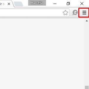1 - Com o Chrome aberto, clique nos três riscos no canto superior direito.