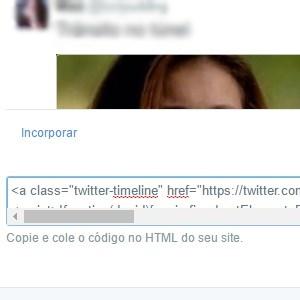 6 - Agora, é só copiar o link que o Twitter gerou e colar onde quiser no HTML do seu site.