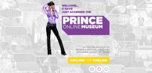 Ilustração de Prince convida os fãs a navegarem pela timeline de sites | Crédito: Reprodução