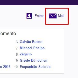 1 - Na página inicial do Yahoo, entre em Mail.