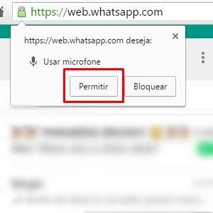 3 - Agora, permita que o site use o microfone do seu computador ou notebook.