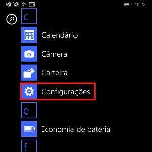 """2. Em seu celular, acesse """"Configurações""""."""