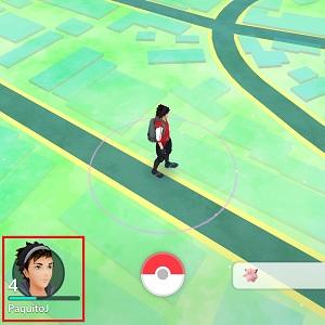 1. Após atualizar o jogo, clique no botão do lado esquerdo para acessar seu perfil.