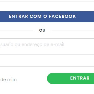 2 - Conecte-se à sua  conta via Facebook ou login manual.
