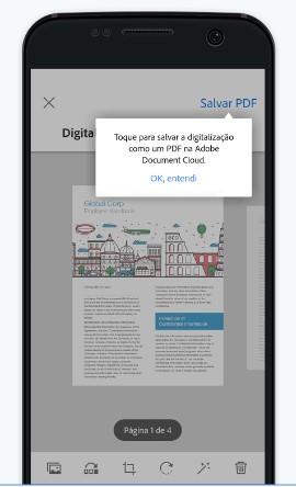 Interface Adobe Scan: programa escaneia facilmente qualquer documento