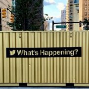 Container do Twitter na Av. Paulista conecta o Brasil ao mundo