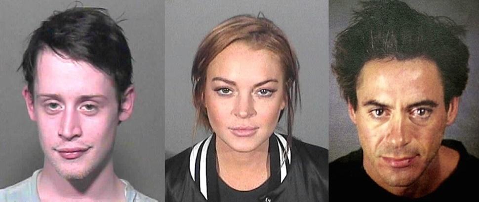 Site reúne fotos de famosos que já foram presos; veja 75 cliques