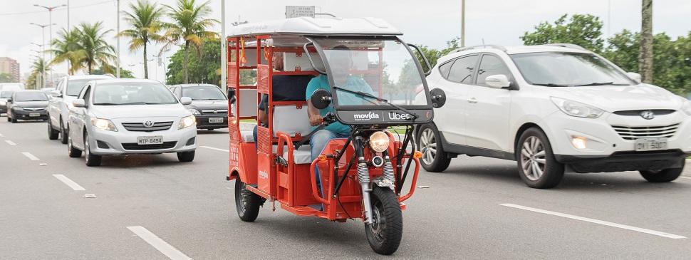 Nova modalidade da Uber: tuk-tuks chegam ao Espírito Santo